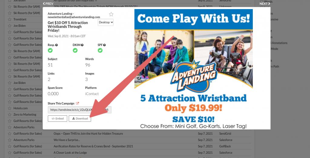 download HTML button screenshot