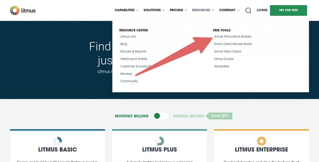 litmus free tools list